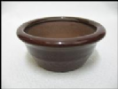Bonsai Pot, Round, 9cm, Red, Glazed
